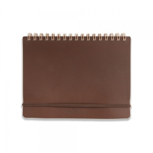 GRAIN B6 notebook - Brown leather