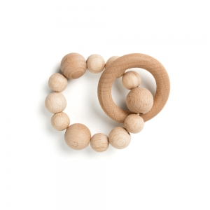 Teething ring - Natural wood
