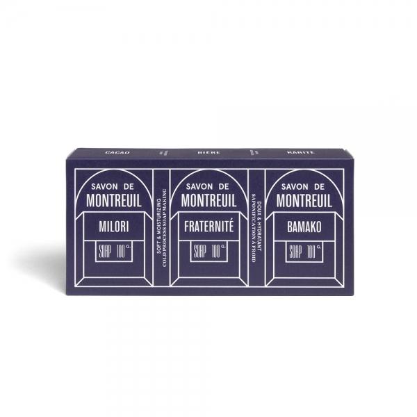 Pack trois savons bio Montreuil - Le Baigneur