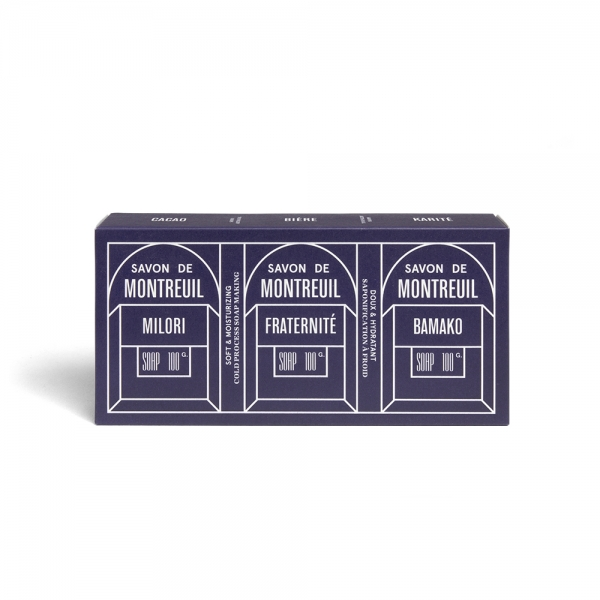 Set of 3 organic soaps with essential oils