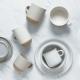 Little mug 110 ml - white & powdered rose