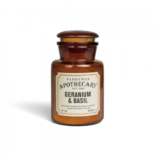 "Bougie Paddywax ""Apothecary"" - Géranium & Basilic"