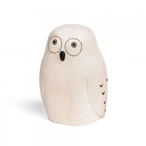 "Wooden owl ""Pole Pole"""