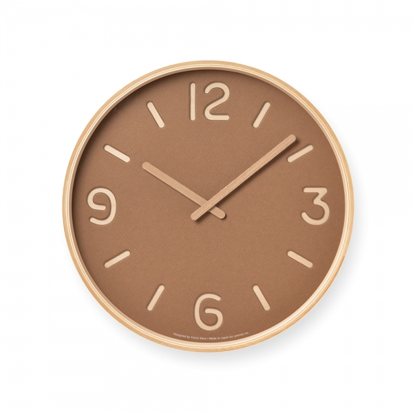 THOMSON PAPER wall clock - Brown