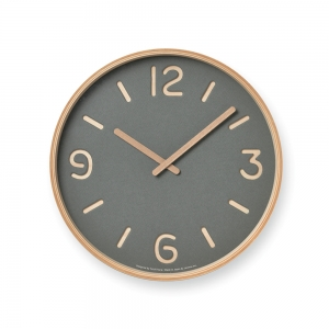 Horloge murale THOMSON PAPER - Gris - Lemnos