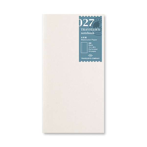 027 - Watercolor paper ( Regular ) Traveler's Notebook