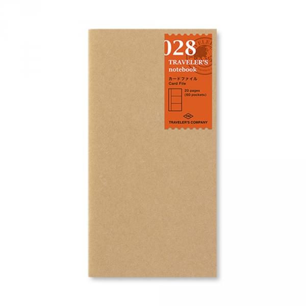 028 - Carnet porte cartes ( classique ) Traveler's Notebook