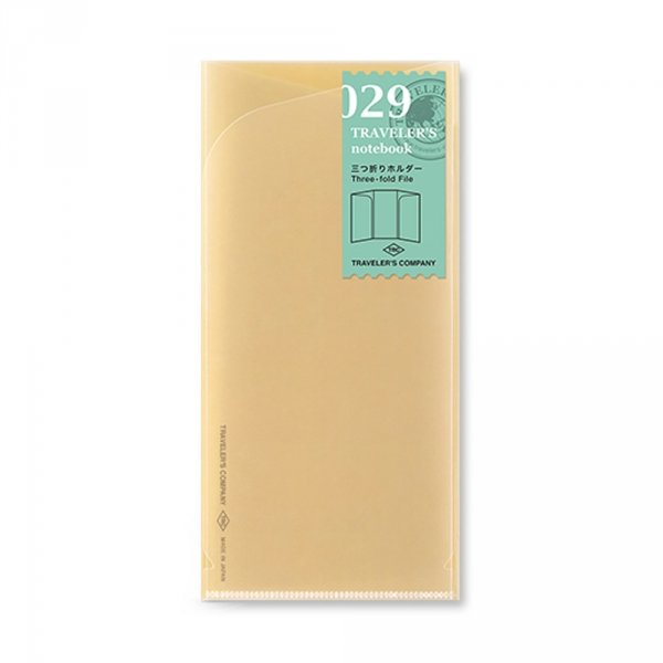 029 - Three fold file ( regular ) Traveler's Notebook
