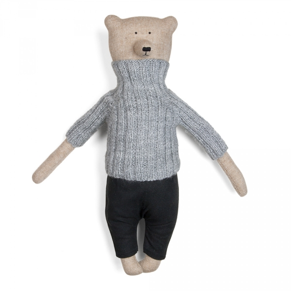 ERNEST - Bear with grey sweater