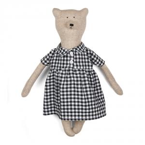 ZOE - Ourson en robe à carreaux