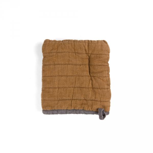 Square oven mitt - Brown ocher