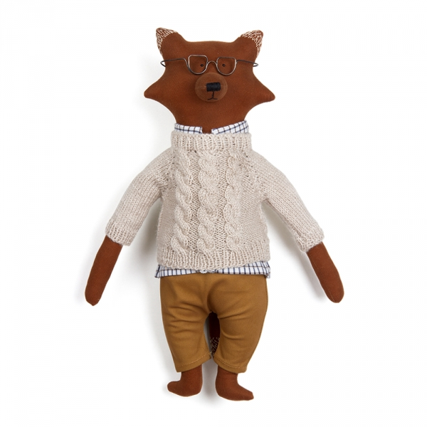 LUKE le renard - 38 cm