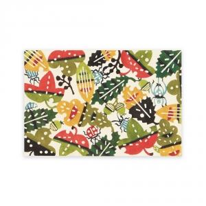 Carte postale - Festin de feuilles