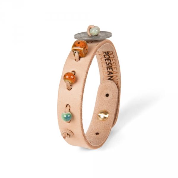 Leather bracelet N°3 - Antique coin