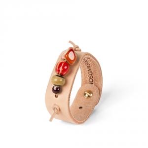 Bracelet en cuir N°4 - Pierre naturelle - Poesie&Song