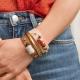 Leather bracelet N°4 - Natural stone