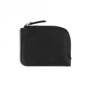 Half zip wallet - Black Baranil