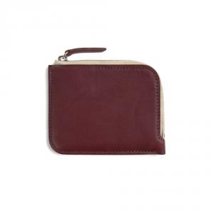 Half zip wallet - Burgundy Baranil