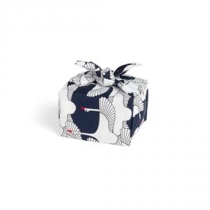 Petit furoshiki - Grue du Japon - Bleu - HAMAMONYO