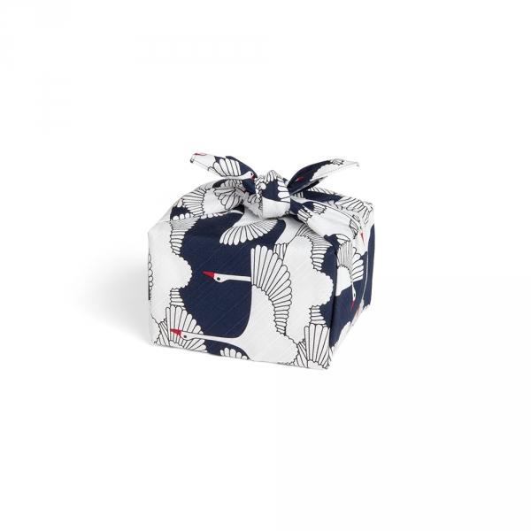 Small furoshiki - Japanese crane - Red