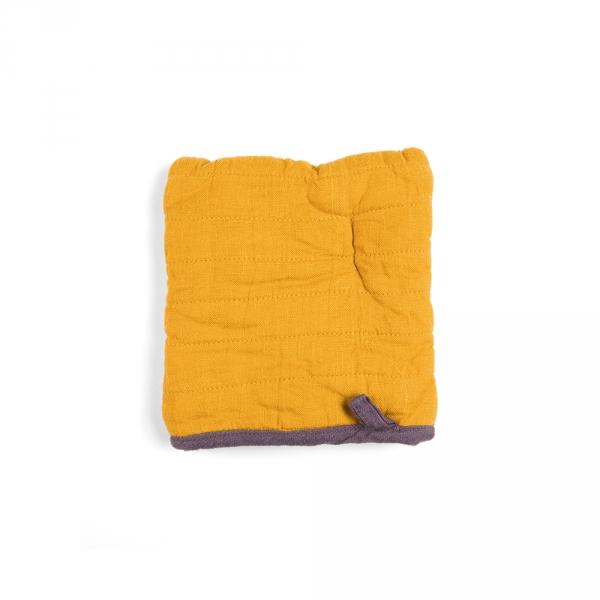 Square oven mitt - Saffron yellow