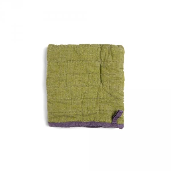 Square potholder - Olive green