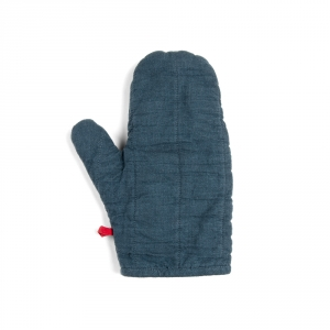 Linen potholder - Denim blue