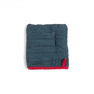 Square potholder - Denim blue