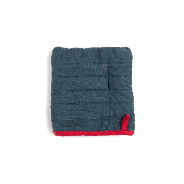 Square potholder - Denim blue