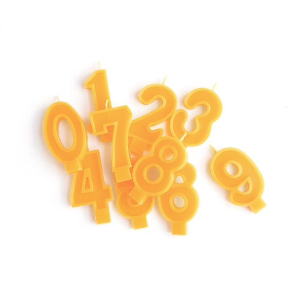 Beeswax number candle - Choose from 0 to 9