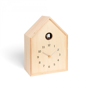 BIRDHOUSE - Wall clock - Natural wood