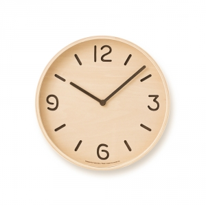 THOMSON wall clock - Light wood