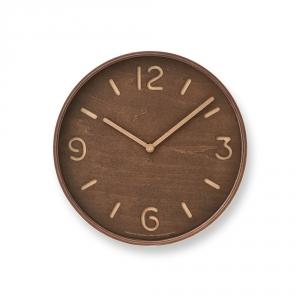 THOMSON wall clock - Dark wood