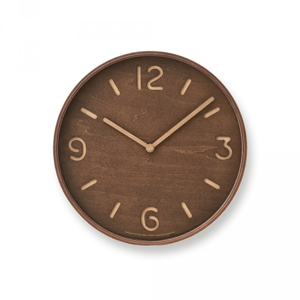 THOMSON wall clock - Dark wood