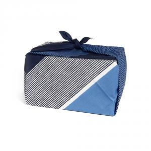 Furoshiki 90x90 - Rayure bleu