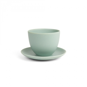 PEBBLE cup & saucer - Green