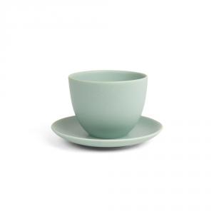 PEBBLE tasse et soucoupe - Vert