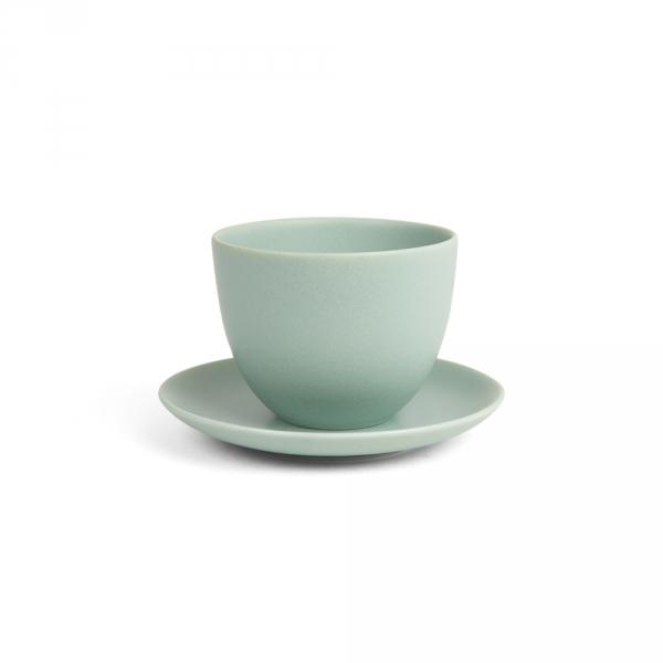 PEBBLE tasse et soucoupe - Vert - KINTO