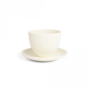 PEBBLE cup & saucer - White