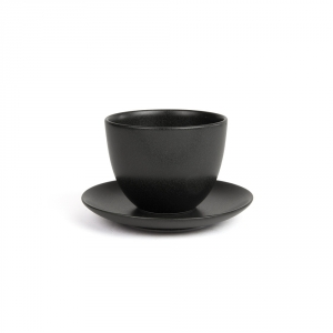 PEBBLE Cup and saucer - Black