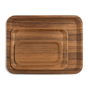 Antislip teak tray - 3 sizes