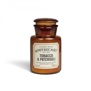 "Bougie Paddywax ""Apothecary"" - Tabac & Patchouli"