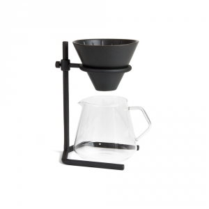 """Slow Coffee Style"" dripper set - black"