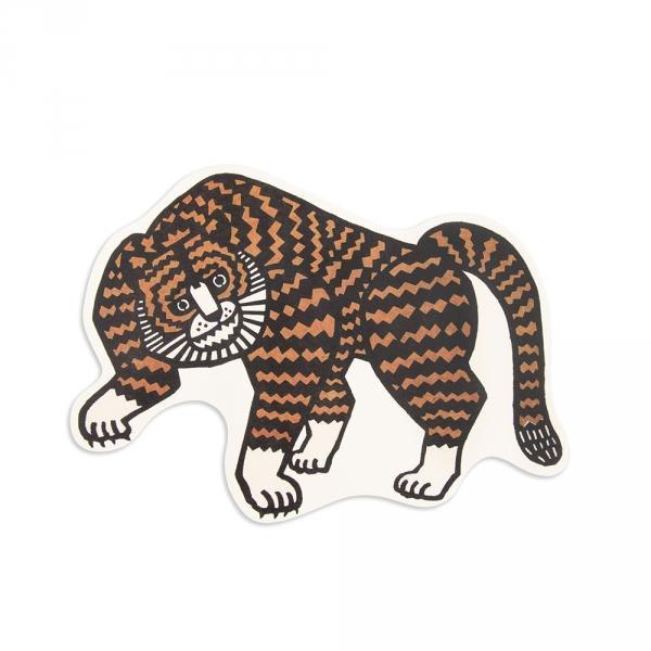 Maxi postcard - Tiger