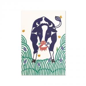 Carte postale - Vache - KATA KATA