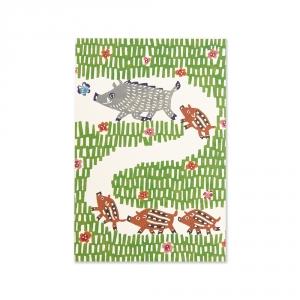 Carte postale - Sanglier - KATA KATA
