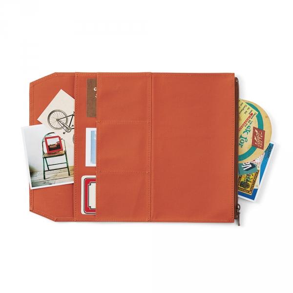 Cotton zipper case ( regular ) Traveler's Notebook - Orange