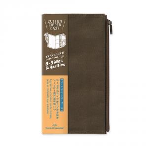 Pochette en coton ( classique ) Traveler's Notebook - Olive