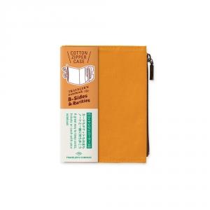Pochette en coton ( passeport ) Traveler's Notebook - Moutarde
