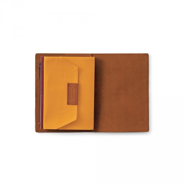 Cotton zipper case ( passport ) Traveler's Notebook - Mustard